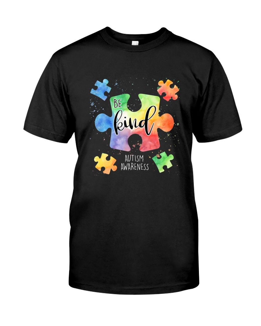 Be Kind Puzzle Pieces Cute Autism Awareness Classic T-Shirt