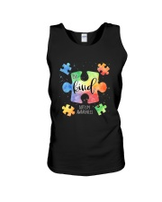 Be Kind Puzzle Pieces Cute Autism Awareness Unisex Tank thumbnail