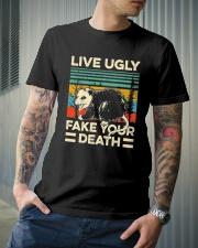 Live Ugly Fake Your Death Retro Vintage Opossum Classic T-Shirt lifestyle-mens-crewneck-front-6