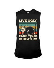 Live Ugly Fake Your Death Retro Vintage Opossum Sleeveless Tee thumbnail