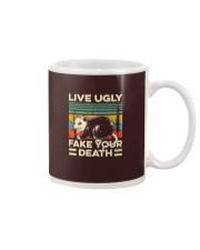 Live Ugly Fake Your Death Retro Vintage Opossum Mug thumbnail