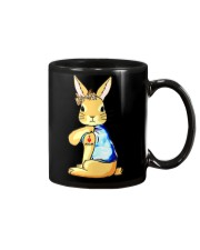 Bunny I Love Mom Tattoo Leopard Print Bow Mug thumbnail
