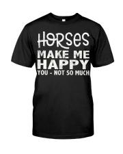 horses make me happy christmas t shirt cool horses Classic T-Shirt front
