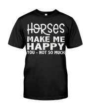 horses make me happy christmas t shirt cool horses Premium Fit Mens Tee thumbnail