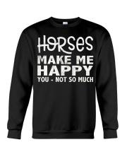horses make me happy christmas t shirt cool horses Crewneck Sweatshirt thumbnail
