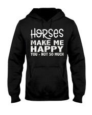 horses make me happy christmas t shirt cool horses Hooded Sweatshirt thumbnail