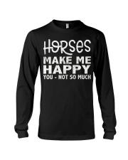 horses make me happy christmas t shirt cool horses Long Sleeve Tee thumbnail