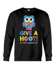 give a hoot autism awareness month t shirt pd6 Crewneck Sweatshirt thumbnail