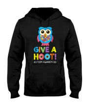 give a hoot autism awareness month t shirt pd6 Hooded Sweatshirt thumbnail
