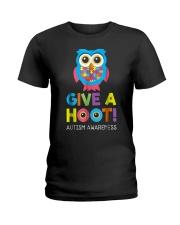 give a hoot autism awareness month t shirt pd6 Ladies T-Shirt thumbnail