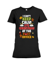 i cant keep calm its christmas at the post office  Premium Fit Ladies Tee thumbnail