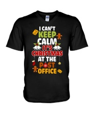 i cant keep calm its christmas at the post office  V-Neck T-Shirt thumbnail