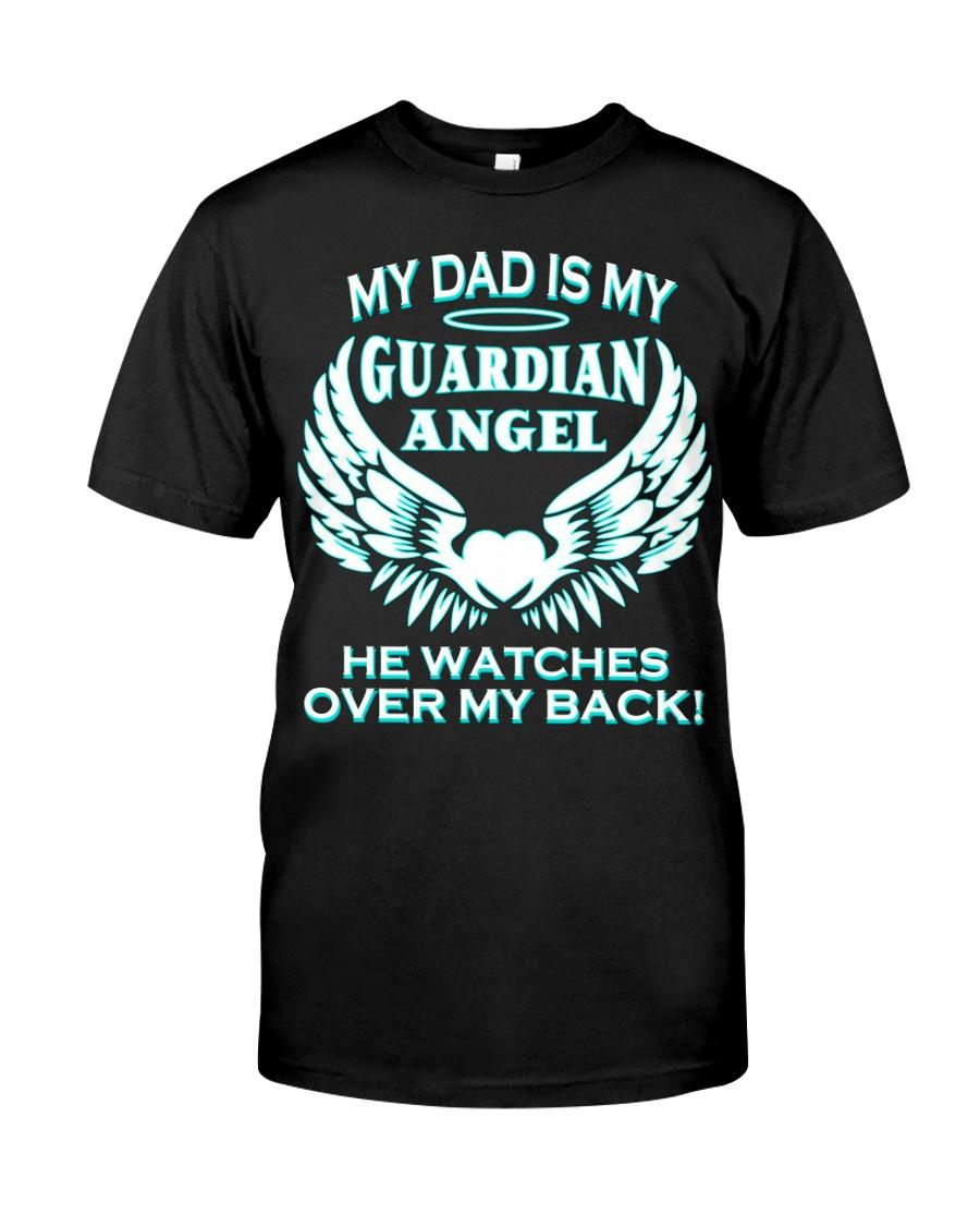 bbtee my dad is my guardian angel t shirt 2fi Blac Classic T-Shirt
