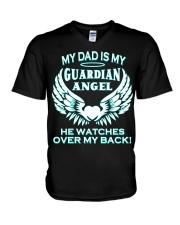 bbtee my dad is my guardian angel t shirt 2fi Blac V-Neck T-Shirt thumbnail