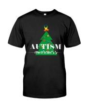 autism awareness shirt autism puzzle christmas tre Premium Fit Mens Tee thumbnail