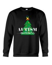 autism awareness shirt autism puzzle christmas tre Crewneck Sweatshirt thumbnail