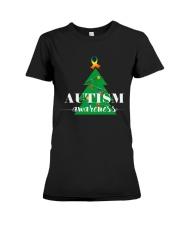 autism awareness shirt autism puzzle christmas tre Premium Fit Ladies Tee thumbnail