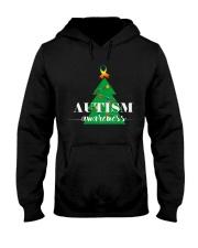 autism awareness shirt autism puzzle christmas tre Hooded Sweatshirt thumbnail