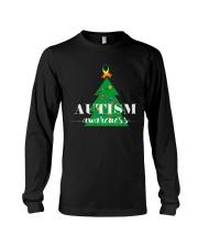 autism awareness shirt autism puzzle christmas tre Long Sleeve Tee thumbnail