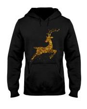 womens christmas reindeer t shirt cute womens gold Hooded Sweatshirt thumbnail