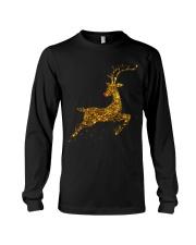 womens christmas reindeer t shirt cute womens gold Long Sleeve Tee thumbnail