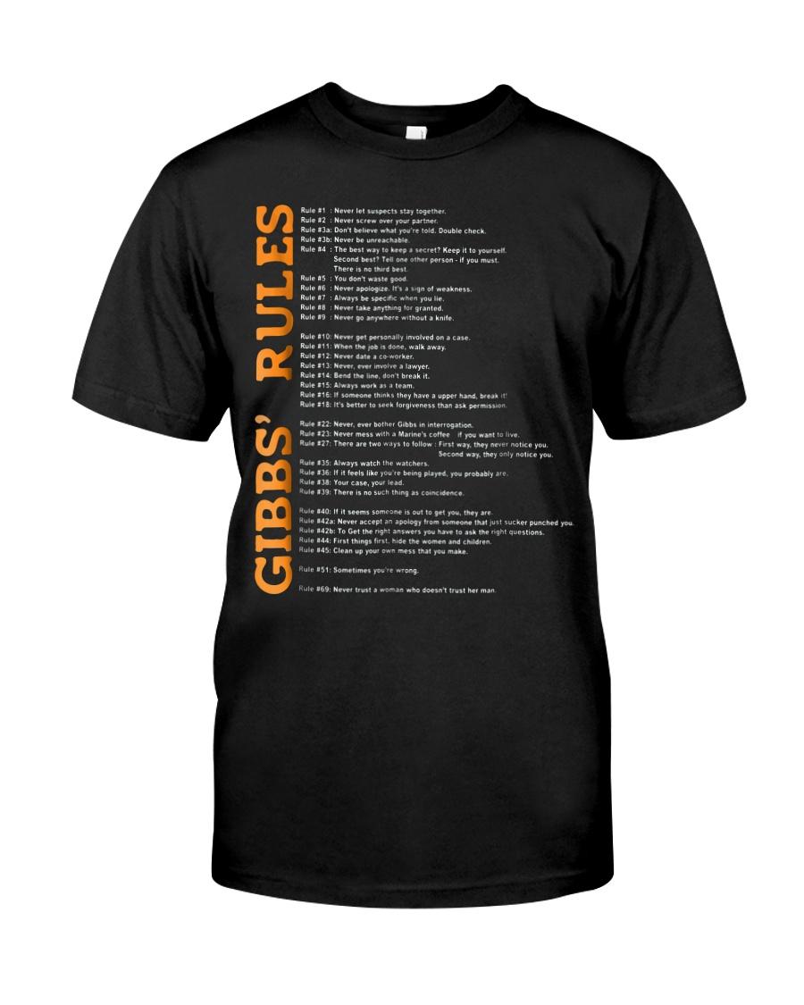 gibbs rules t shirt hgf Classic T-Shirt