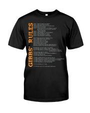 gibbs rules t shirt hgf Classic T-Shirt front
