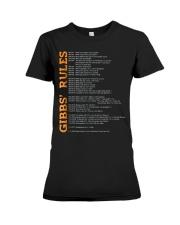 gibbs rules t shirt hgf Premium Fit Ladies Tee thumbnail
