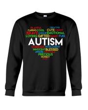 word cloud support autism awareness t shirt z47 Crewneck Sweatshirt thumbnail