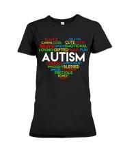 word cloud support autism awareness t shirt z47 Premium Fit Ladies Tee thumbnail