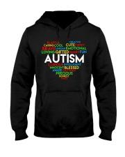 word cloud support autism awareness t shirt z47 Hooded Sweatshirt thumbnail