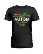 word cloud support autism awareness t shirt z47 Ladies T-Shirt thumbnail