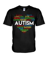 word cloud support autism awareness t shirt z47 V-Neck T-Shirt thumbnail