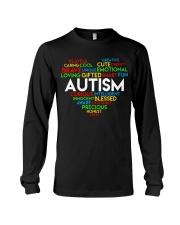word cloud support autism awareness t shirt z47 Long Sleeve Tee thumbnail