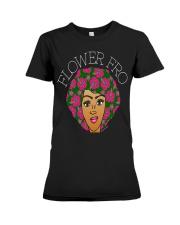 flower fro natural hair afro shirt hz2 Black Premium Fit Ladies Tee thumbnail