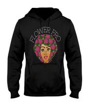 flower fro natural hair afro shirt hz2 Black Hooded Sweatshirt thumbnail