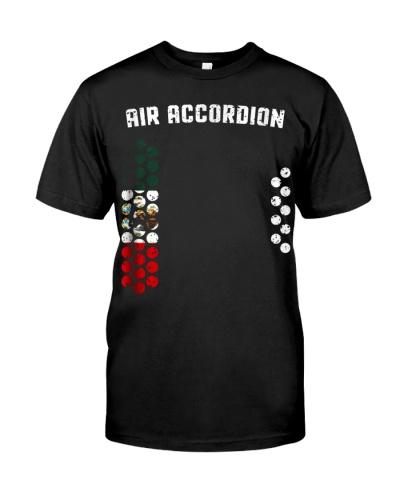 Mens Cool Air Accordion T Shirt I Mexican Flag Mex