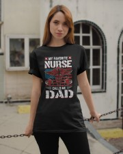 My Favorite Nurse Calls Me Dad Fathers Day Classic T-Shirt apparel-classic-tshirt-lifestyle-19