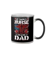 My Favorite Nurse Calls Me Dad Fathers Day Color Changing Mug thumbnail