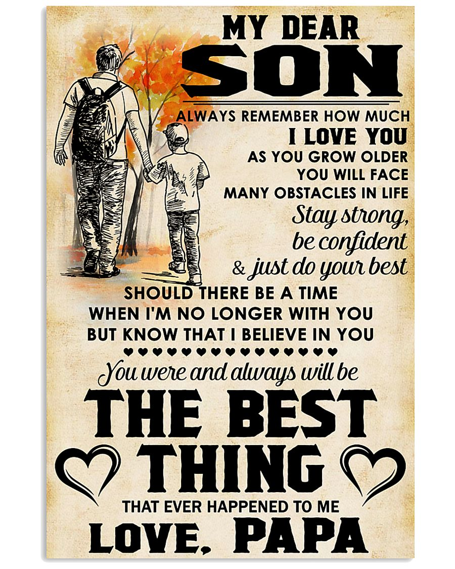 MY DEAR SON - LOVE PAPA 11x17 Poster