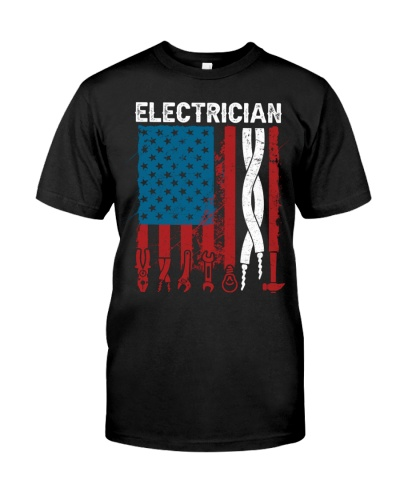Patriotic Electrician American USAFlag Fathers Day
