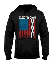 Patriotic Electrician American USAFlag Fathers Day Hooded Sweatshirt thumbnail