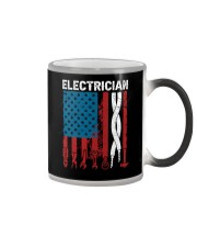 Patriotic Electrician American USAFlag Fathers Day Color Changing Mug thumbnail
