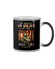 Proud Army Dad Military Father Funny Fathers Day Color Changing Mug thumbnail
