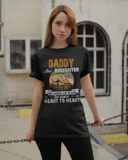 Amazing Daddy And Daughter Not Always Eye To Eye Classic T-Shirt apparel-classic-tshirt-lifestyle-19