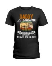 Amazing Daddy And Daughter Not Always Eye To Eye Ladies T-Shirt thumbnail