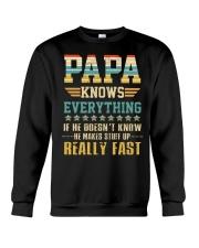 He Makes Stuff Up Really Fast FathersDay Crewneck Sweatshirt thumbnail