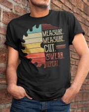 Dad Measure Swear Handyman Woodworker Fathers Day Classic T-Shirt apparel-classic-tshirt-lifestyle-26
