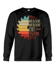 Dad Measure Swear Handyman Woodworker Fathers Day Crewneck Sweatshirt thumbnail