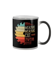 Dad Measure Swear Handyman Woodworker Fathers Day Color Changing Mug thumbnail